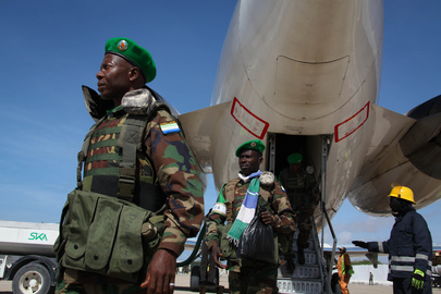 Members of AMISOM's Sierra Leone Contingent Arrive in Mogadishu