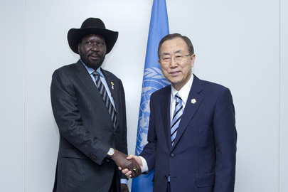 Secretary-General Meets President of South Sudan