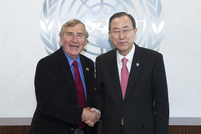 Secretary-General Meets Head of Harvard's Belfer Centre for Science and International Affairs