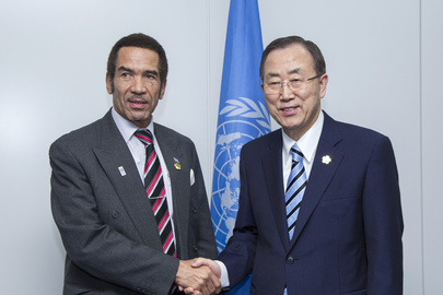 Secretary-General Meets President of Botswana