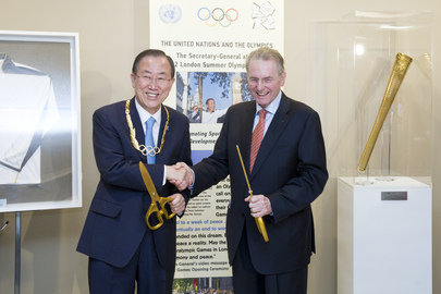 Opening of Olympic Display at UNHQ