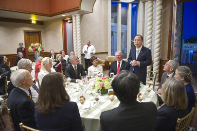 Chancellor of University of Denver Hosts Dinner for Secretary-General