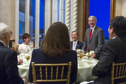 Chancellor of University of Denver Hosts Dinner for Secretary-General