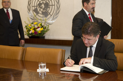 Secretary-General Meets Foreign Minister of Slovakia