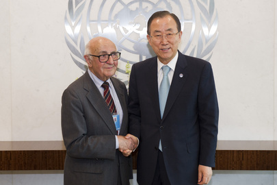 Secretary-General Meets President of Yugoslavia Tribunal