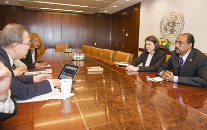 Secretary-General Meets Head of UNAIDS