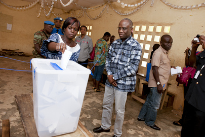 Deputy Special Representative for Côte d'Ivoire Visits Facobly Polling Stations