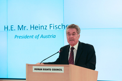 President of Austria Addresses Human Rights Council