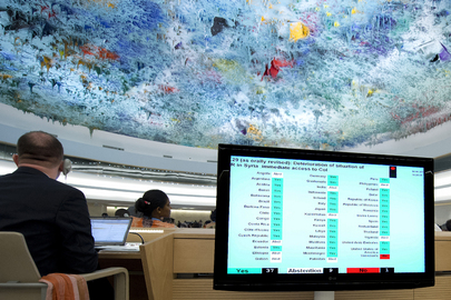 Human Rights Council Adopts Resolution on Deteriorating Syria Situation