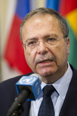 Head of Libya Mission Briefs Press