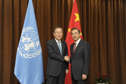 Secretary-General Meets Foreign Minister of China