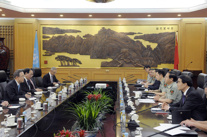 Secretary-General Meets Chief of General Staff of Chinese Army