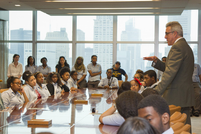 Harlem High School Students Tour UNHQ