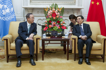 Secretary-General Meets Mayor of Beijing
