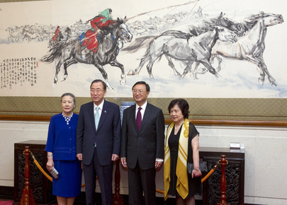 Secretary-General Meets State Councilor of China