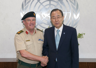 Secretary-General Meets with UNTSO Chief