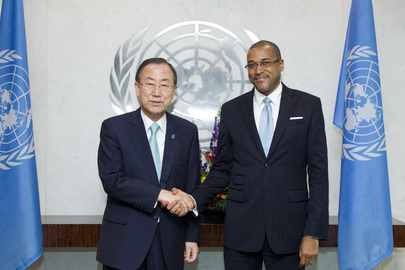 Secretary-General Meets New Permanent Representative of Jamaica