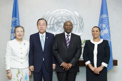 Secretary-General Meets New Permanent Representative of Lesotho