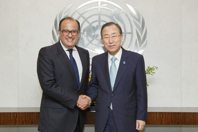 Secretary-General Meets with Adviser of King of Morocco