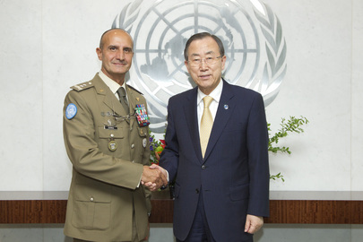 Secretary-General Meets Head of UNIFIL