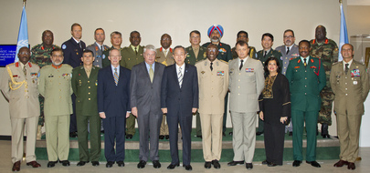 Group Photo of Secretary-General with Peacekeeping Force Commanders