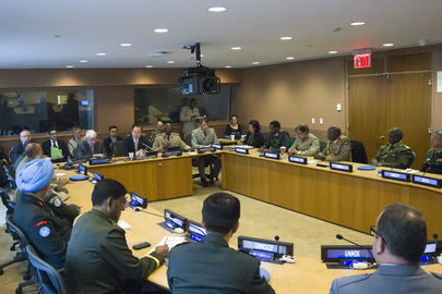 Secretary-General Meets Peacekeeping Force Commanders