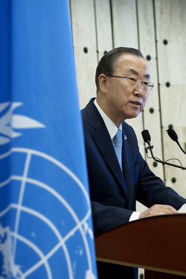 Secretary-General Speaks to Press in Geneva