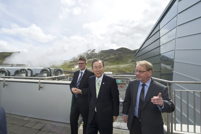 Secretary-General Visits Hellisheidi Geothermal Plant in Iceland