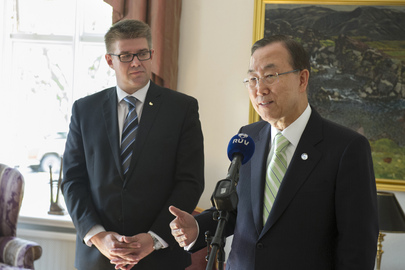 Secretary-General Meets Foreign Minister of Iceland