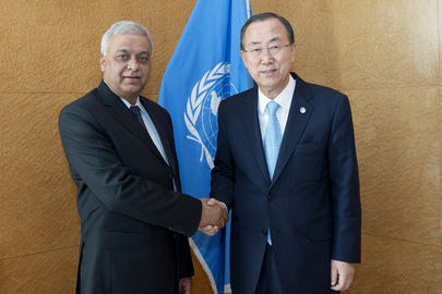 Secretary-General Meets with Foreign Affairs Minister of Nepal