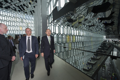 Secretary-General Visits Harpa Concert Hall and Conference Centre in Reykjavik