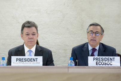 President of Colombia Addresses ECOSOC