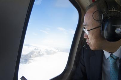Secretary-General Visits Langjökull Glacier