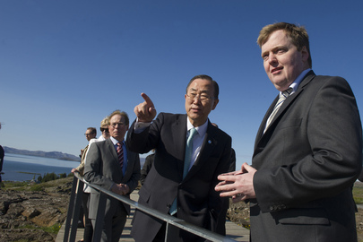 Secretary-General Visits Thingvellir National Park in Iceland