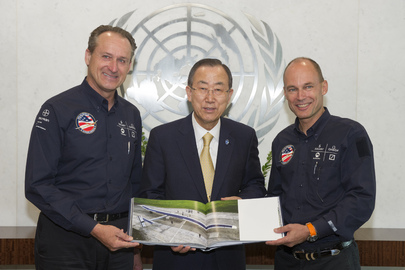 Secretary-General Meets Solar Impulse Pilots