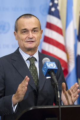 Permanent Representative of France Speaks to Press on Lebanon