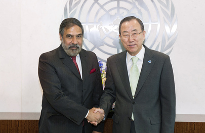 Secretary-General Meets Commerce Minister of India