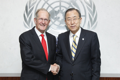 Secretary-General Meets Former General Assembly President