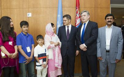 Assembly President Meets Malala Yousafzai