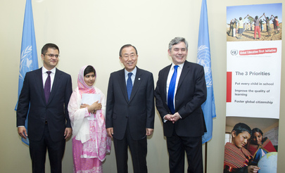 Secretary-General, Assembly President Meet Malala Yousafzai