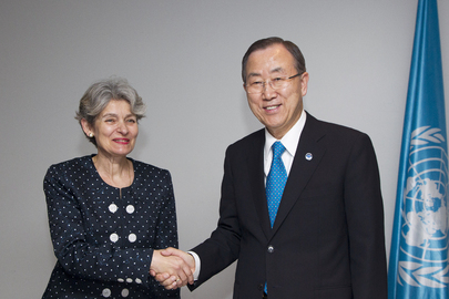 Secretary-General Meets Head of UNESCO