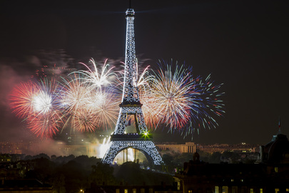 Fireworks in Paris Celebrating Bastille Day
