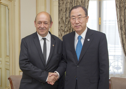 Secretary-General Meets Defence Minister of France