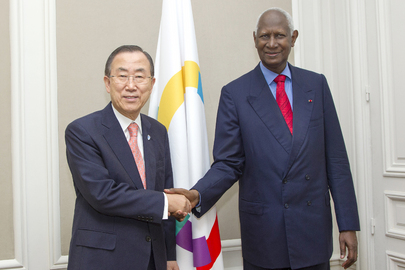 Secretary-General Meets Head of Francophonie Organization