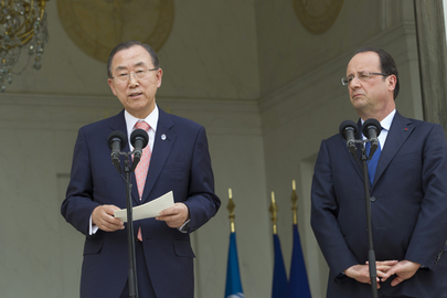 Secretary-General Adresses Press with French President