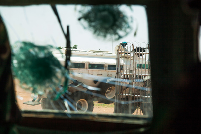 Armored Personnel Carrier of UNAMID, Damaged in Ambush