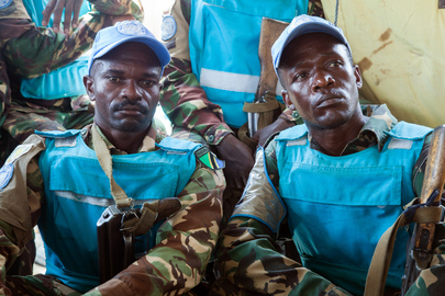 UNAMID Troops Hear Words of Support Following Deadly Ambush