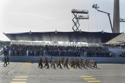 French Military Parade Celebrating Bastille Day