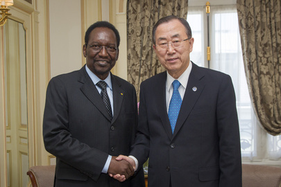 Secretary-General Ban Ki-moon Meets Interim President of Mali in Paris