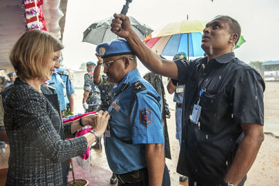 UN Medal Parade for UNMIL Nepalese Police Officers